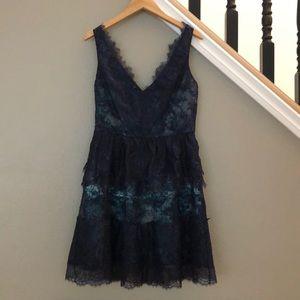 Navy Blue BCBG Willa Lace Dress